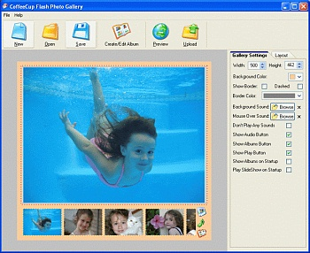 screenshot CoffeeCup Flash Photo Gallery 4.5